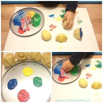 malowanie pieczątkami