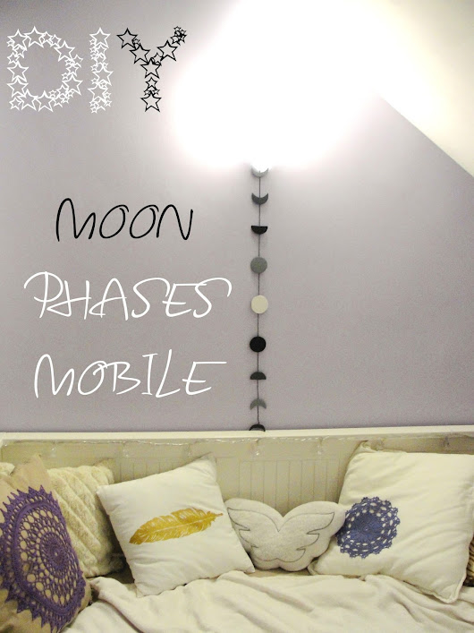 CarlyEnjoys: DIY: MOON PHASES MOBILE