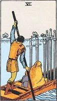 Six of Swords in Love and Relationships - Priania