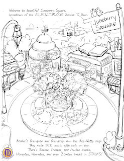 Juneberry Square cleaned up sketch by Imagine That! Design