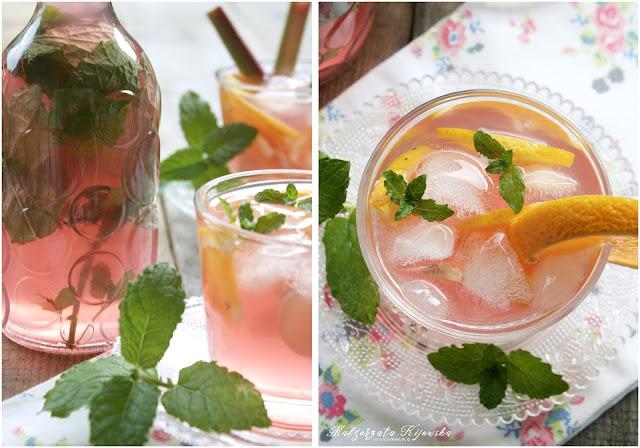 napój alkoholowy, z winem, poncz, lemoniada rabarbarowa, z rabarbaru, daylicooking, Małgorzata Kijowska