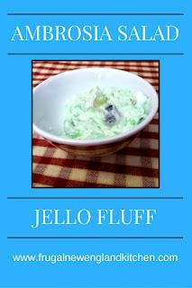 Ambrosia Salad Jello Fluff Dessert