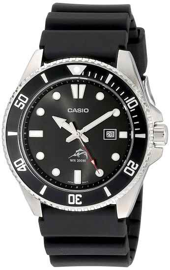 Casio MDV106-1A Men's Black Analog Anti Reverse Bezel Dive Watch