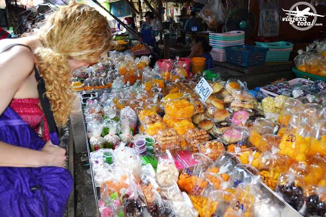 Mercado de MaeKlong, Tailandia