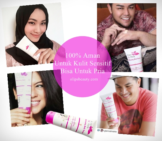 Fair N Pink Serum Body Whitening 100% Aman