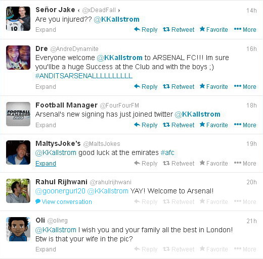 Arsenal fans get Tennessee 'soccer mom' confused with new signing Kim Källström