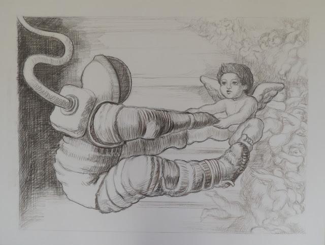 José Caes Solé dibujo ángel