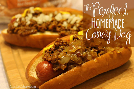 The Perfect Homemade Coney Dog