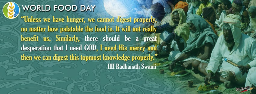 K-Visuals: World Food Day Quotes FB Cover