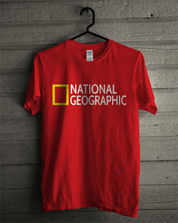 Baju Kaos National Geographic Warna Merah