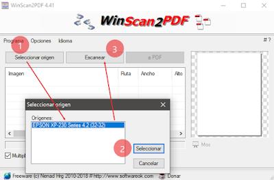 Escanea y guarda en PDF aunque no tengas los controladores del escaner