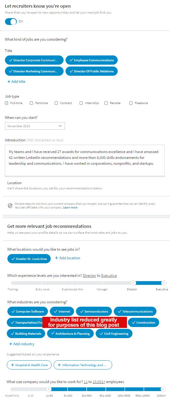 LinkedIn recruiter notification