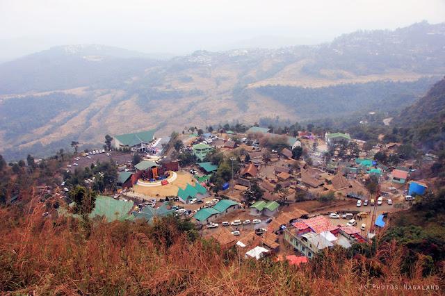Hornbill Festival Venu at Naga Heritage Village Kisama