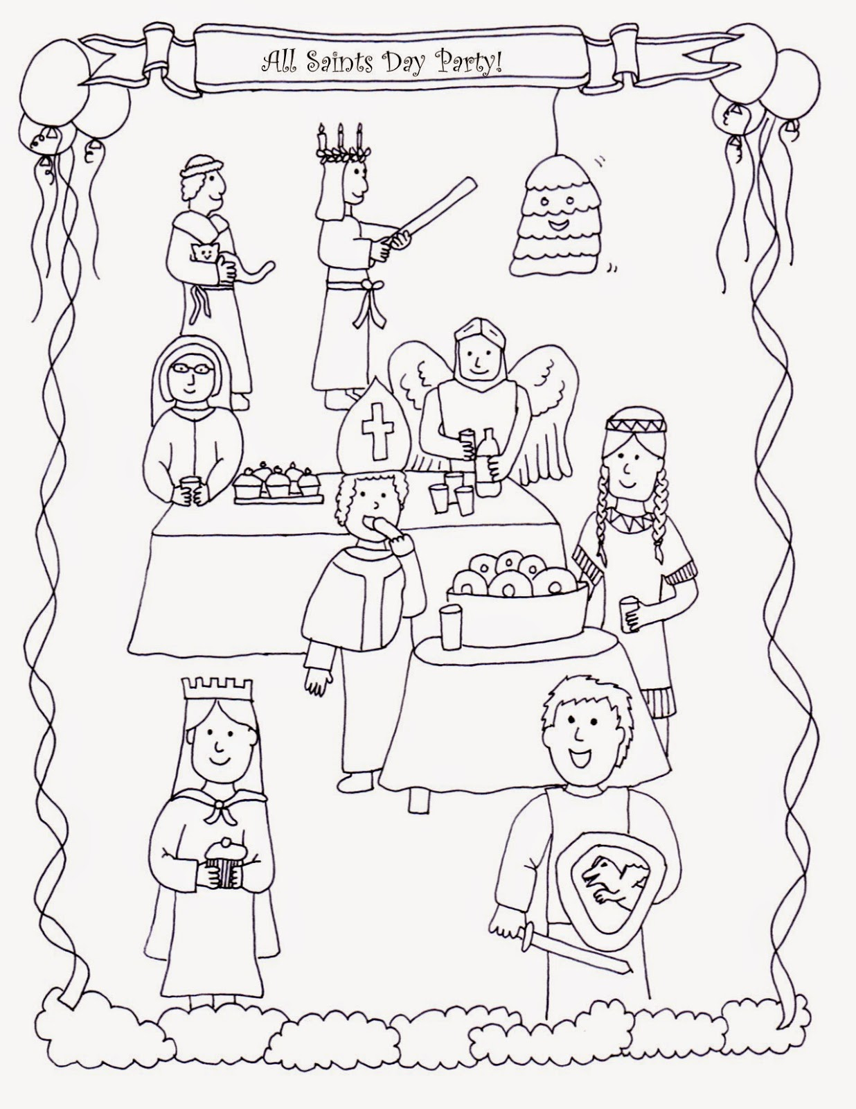 Drawn2BCreative: All Saints Day Coloring Page