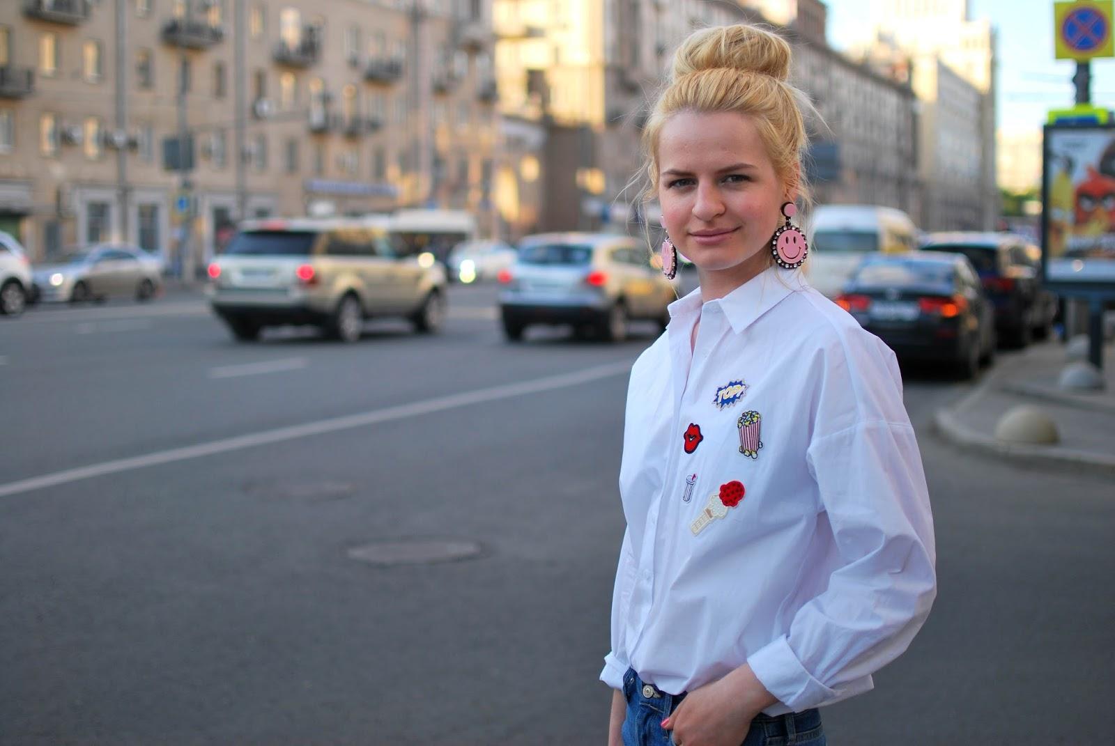 уличная мода 2016 весна, стрит стайл москва, с чем носить рубашку бойфренд, лучший модный блог