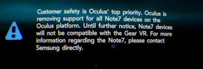 أوكلوس تتخذ إجراء جديدا لحماية مستخدمي Gear VR من حوادث نوت 7