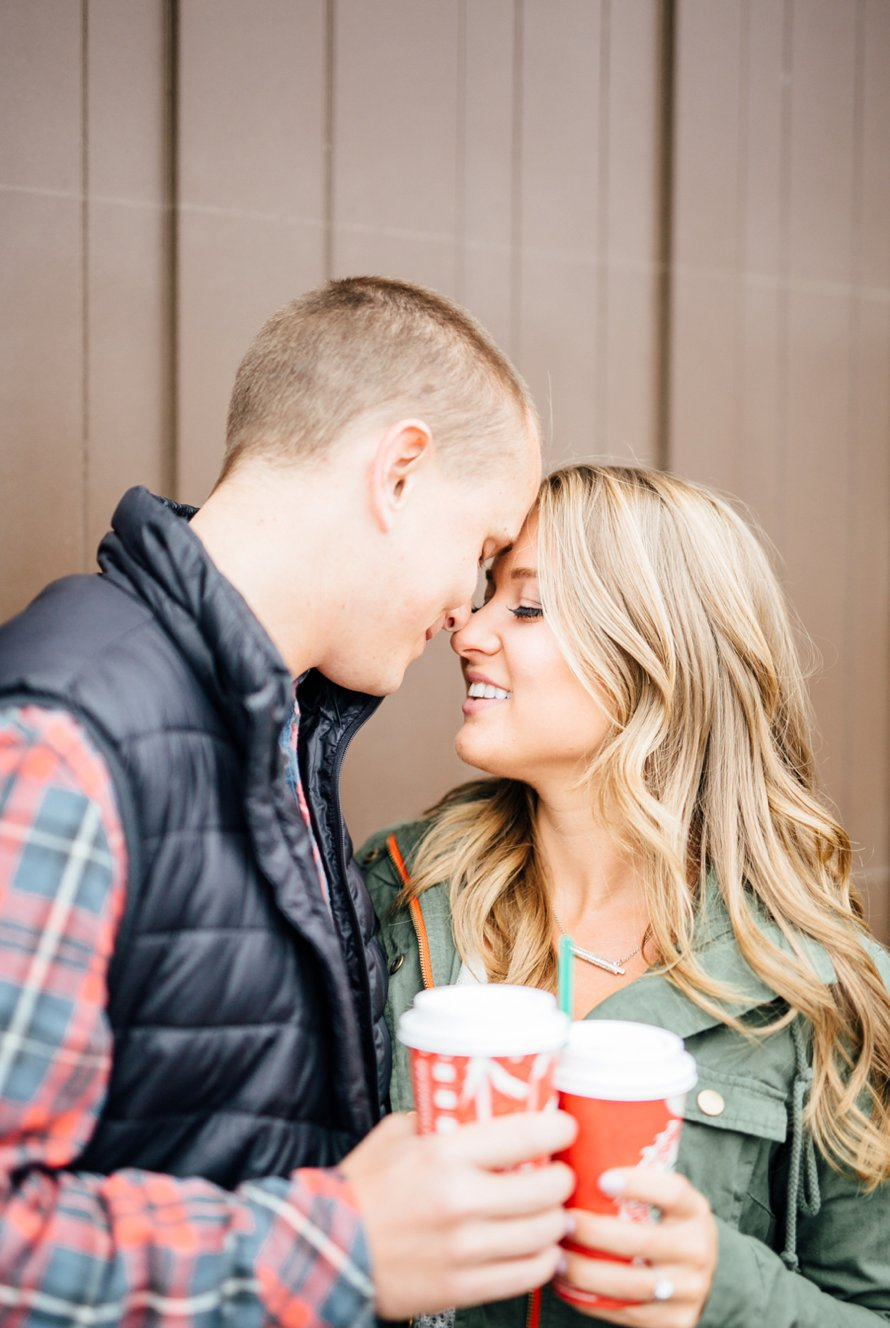 Dreamy Fall Engagement Session in Downtown Spokane by Something Minted Photography