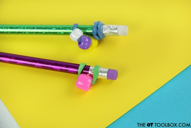 Help kids pay attention and focus with a pencil topper fidget toy.