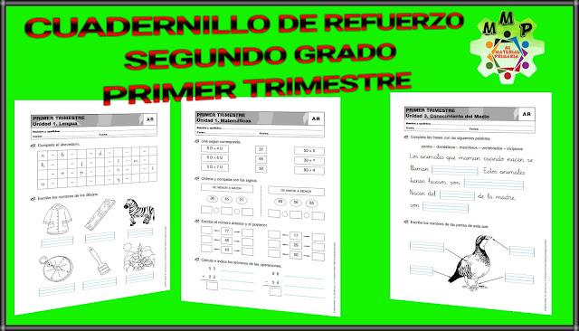 CUADERNILLO DE REFUERZO-PRIMER TRIMESTRE-2°