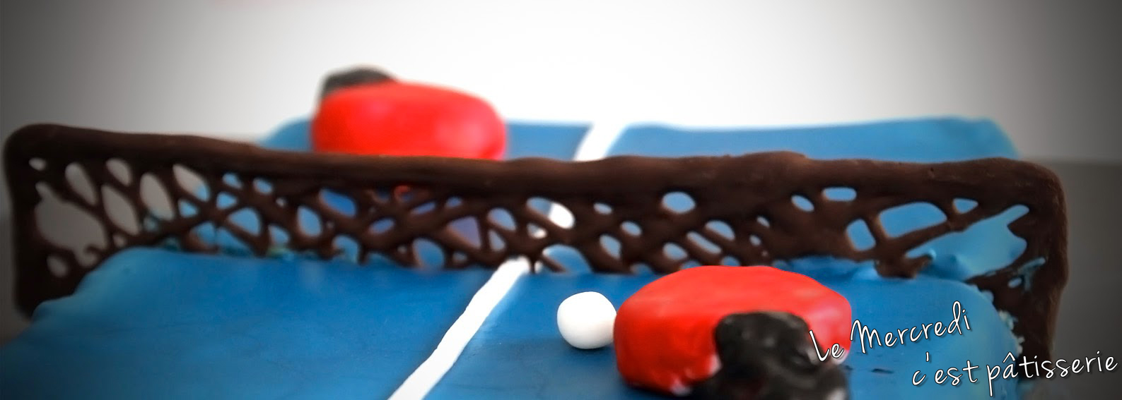 Gateau table de ping pong