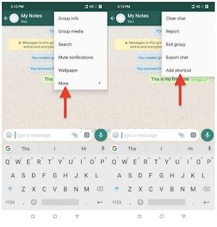 Cara menggunakan WhatsApp sebagai buku harian kita