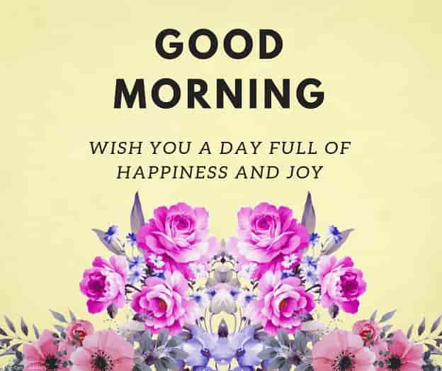 wish you a day full of happiness n joy good morning card