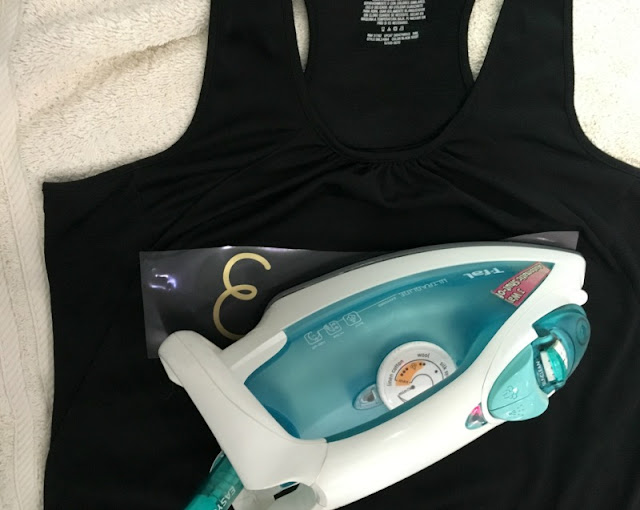 Have you heard about Cricut's new SportFlex Iron On™ that is lightweight and stretches? See how I used it to customize a yoga tank and leggings!