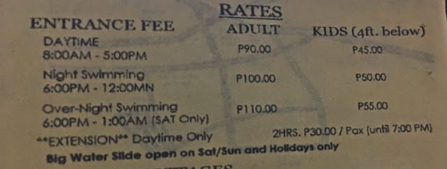 Villa Teresita Entrance Fee