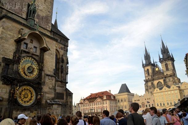 Panorámica desde el Reloj astronómico, Praga. Por Viaja et verba