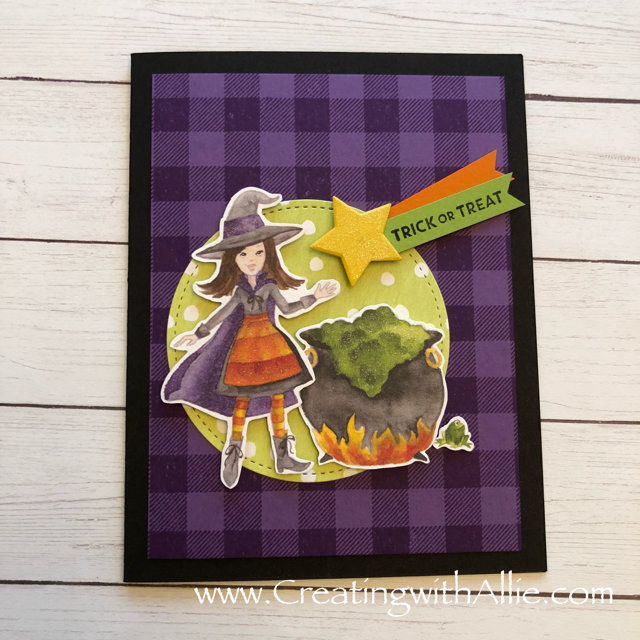 Check out the video tutorial showing you how to make this cute halloween card using the Toil and Trouble designer series paper and!  You'll love how quick and easy this is to make!  www.creatingwithallie.com #stampinup #alejandragomez #creatingwithallie #videotutorial #cardmaking #papercrafts #handmadegreetingcards #fun #creativity #makeacard #sendacard #stampingisfun #sharewhatyoulove #handmadecards #friendshipcards #halloweencards