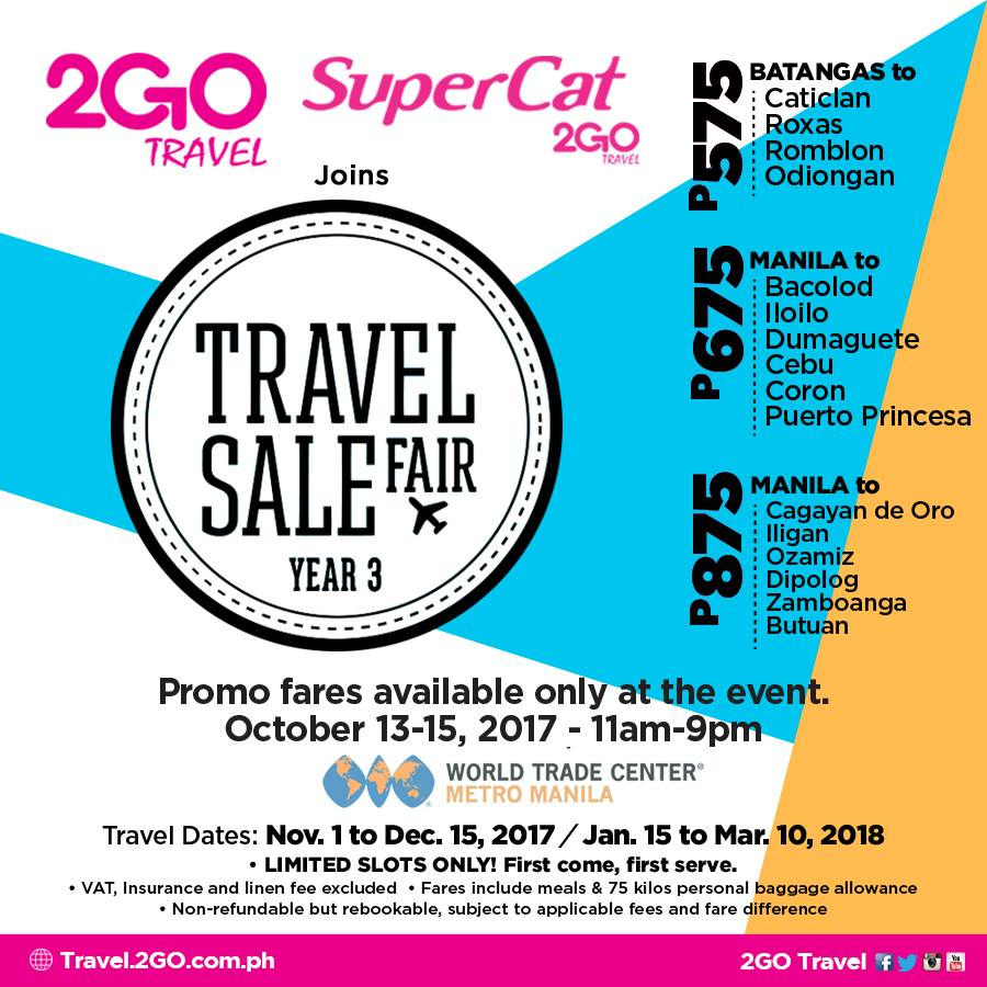 2Go Travel Promo - SuperFerry Promo 2019 to 2020: October 2017