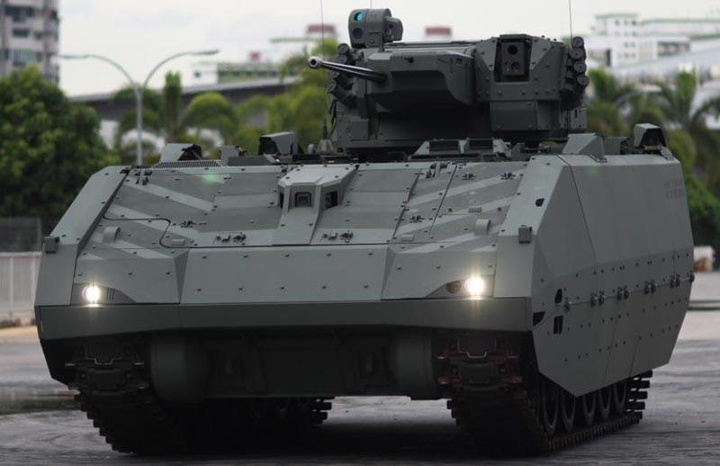 Novo blindado (AFV) de nova geração das Forças Armadas de Cingapura