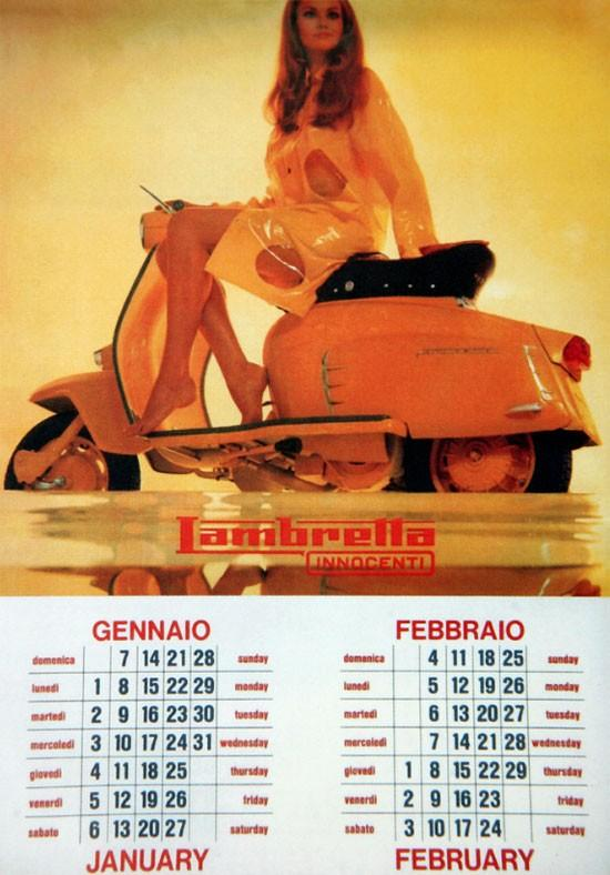 Patrick Day vintage everyday: 1968 Lambretta Calendar