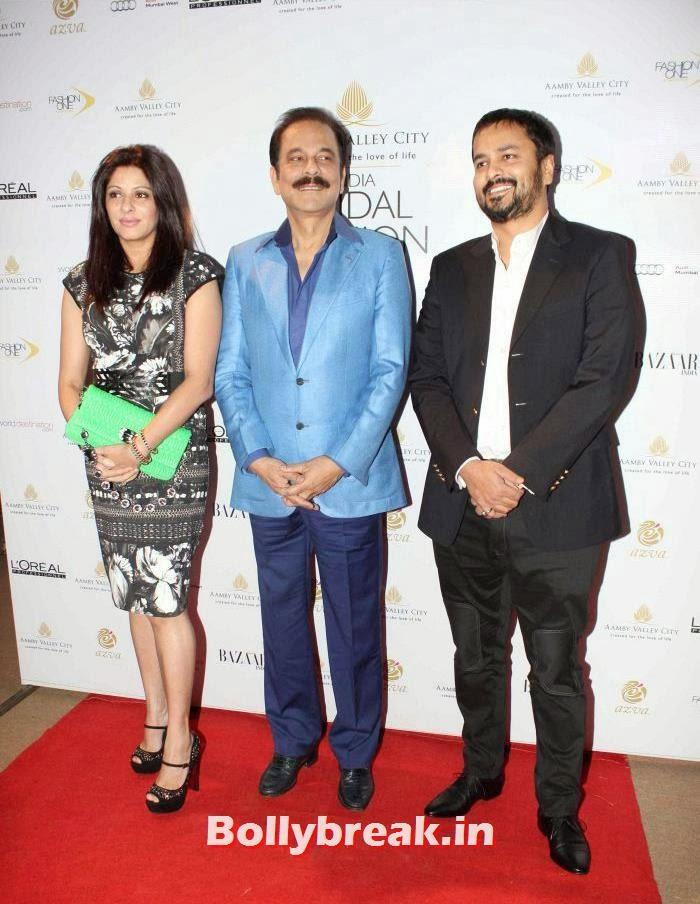 Subrata Roy, Hot Celebs at India Bridal Fashion Week 2013
