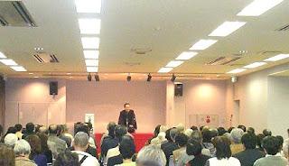 三遊亭楽春講演会、落語に学ぶ職場や家庭のコミュニケーション。