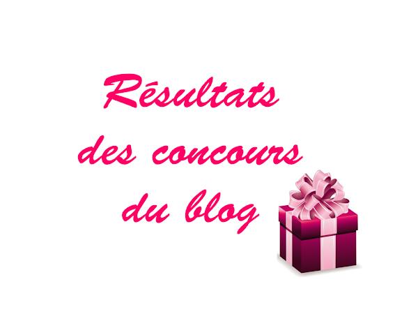 Résultats des concours du blog !