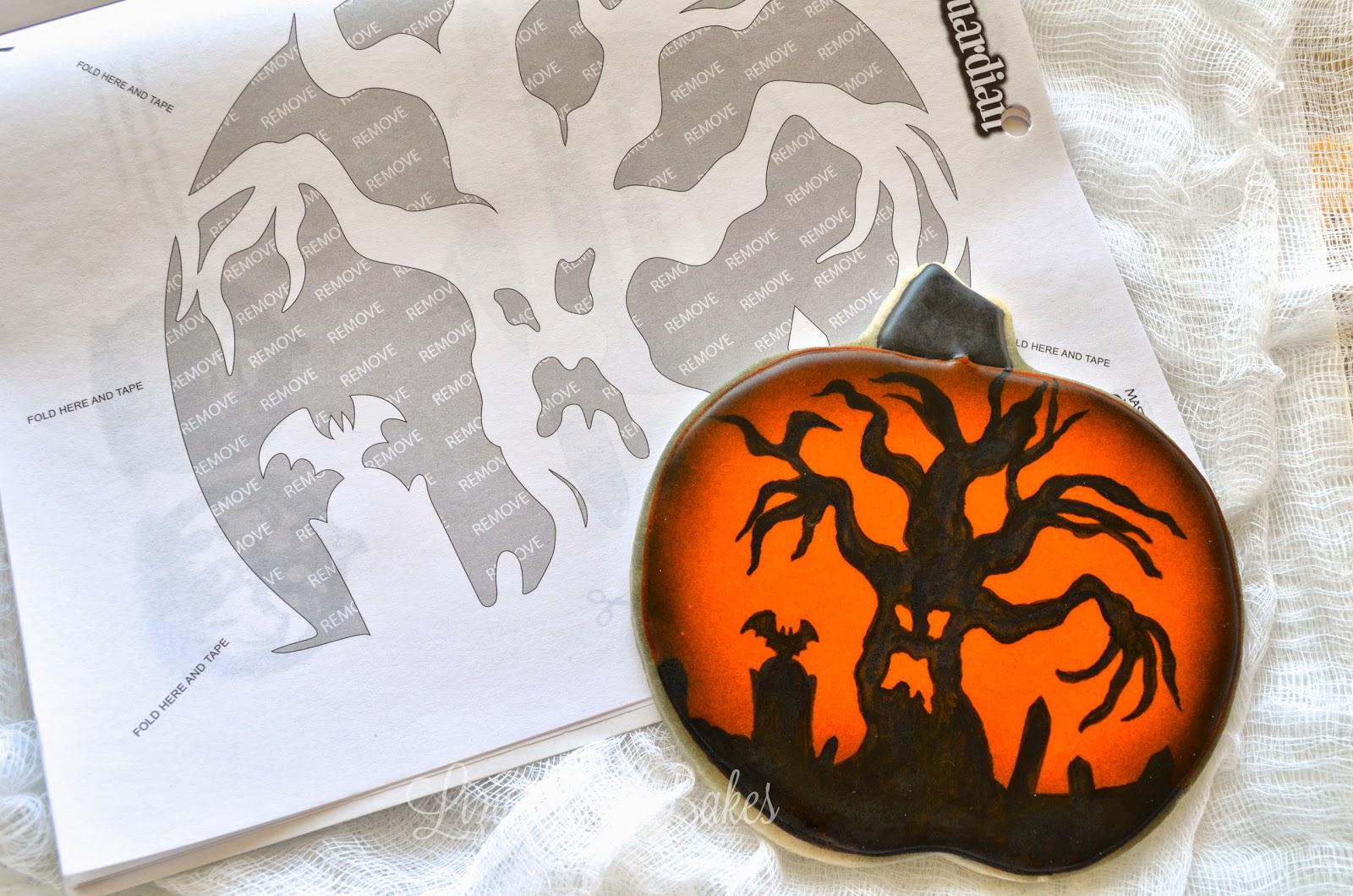 Lizy B: Using Pumpkin Carving Stencils As Halloween Cookie