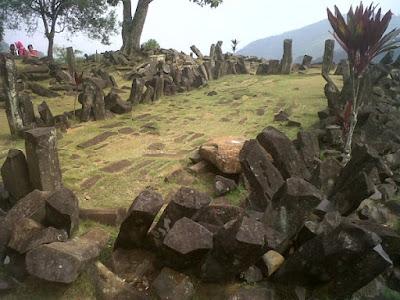 Gunung Padang Megalithic Ruins.