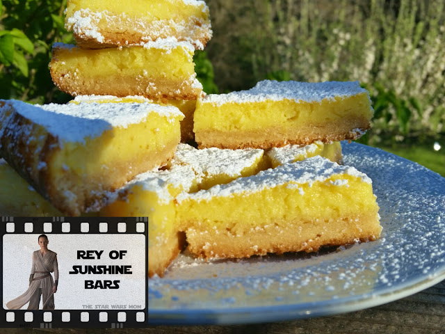 Rey of Sunshine Italian Lemon Bars - Star Wars The Force Awakens Party Food Recipe