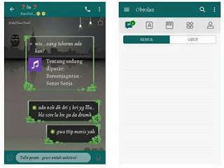 BBM Mod Chat Me Simple Green Mod APK