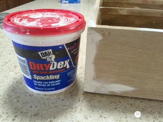 filling holes with spackle