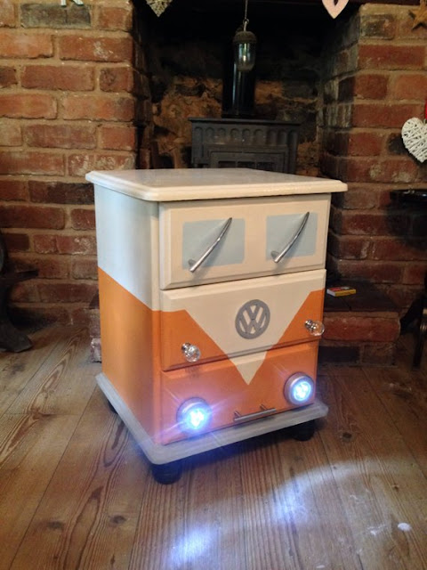 VW Campervan Bedside Drawers