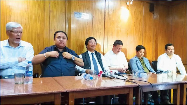 GNLF and the Bimal Gurung faction GJM press meet at Delhi