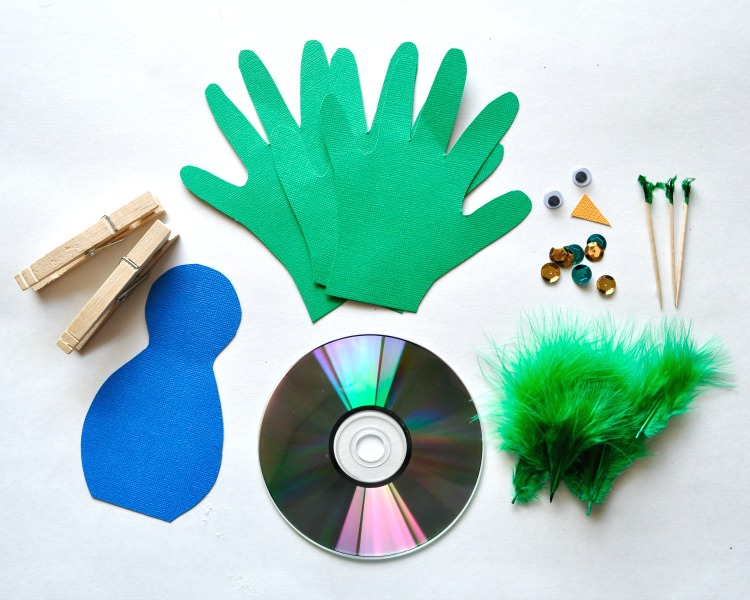 Recycled Cd Peacock Craft For Kids I Heart Crafty Things