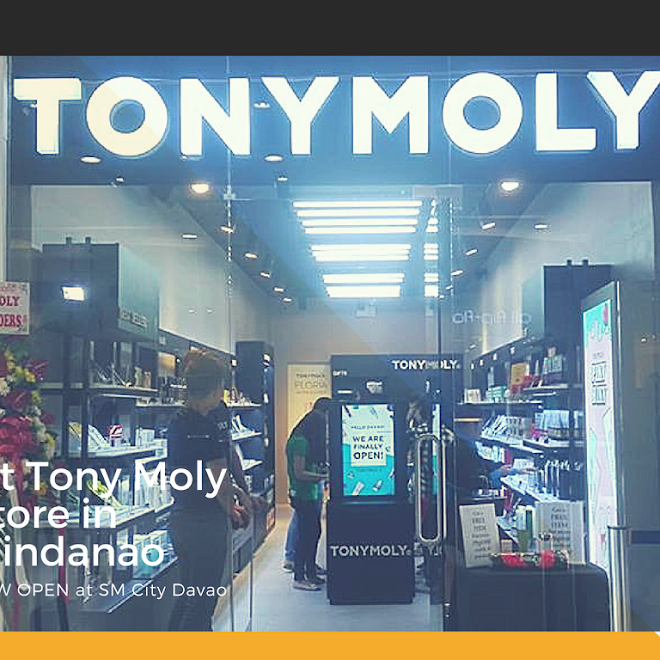 Tony Moly Philippines 1st Mindanao Store Just Opened in SM City Davao