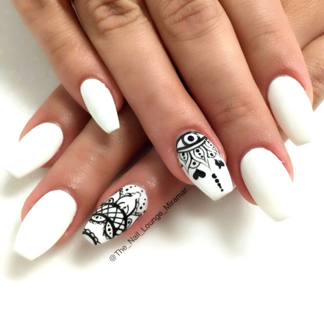 Black White Nail Art Design Wallpapers Abstract