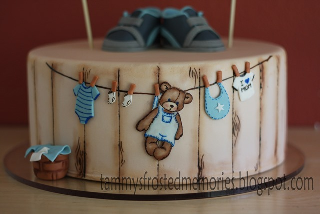 Tammys Frosted Memories Teddy Bear Baby Shower Cake