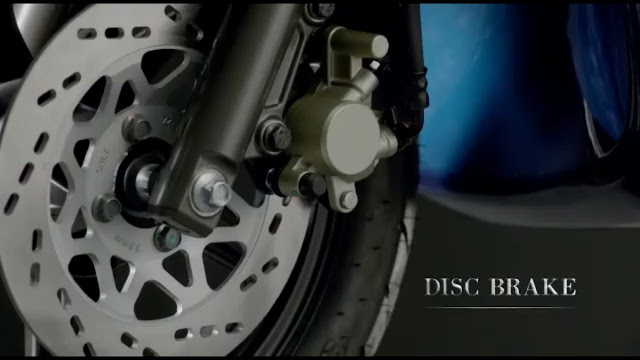 New 2018 TVS Jupiter Grande Front disc brake