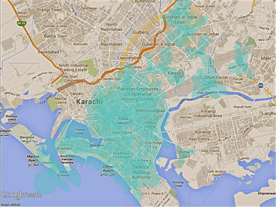 Karachi Map Full Download