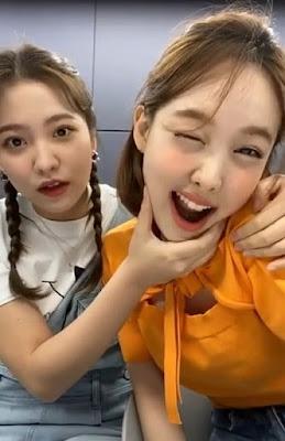 Twice Nayeon with Red Velvet Yeri on Instagram Live